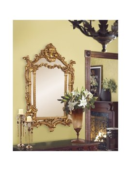 Antique Gold Vertical Baroque Mirror by Astoria Grand