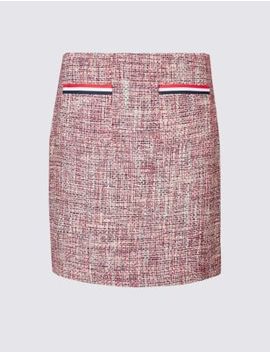 Contrast Trim Patch Pocket Pencil Mini Skirt by Marks & Spencer