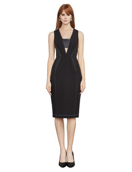 Beverly Faux Leather Inset Dress by Bcbgmaxazria