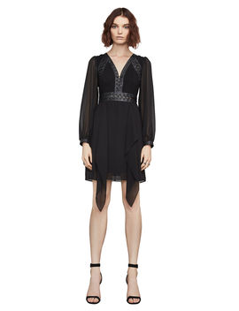 Andela Faux Leather Trim Dress by Bcbgmaxazria