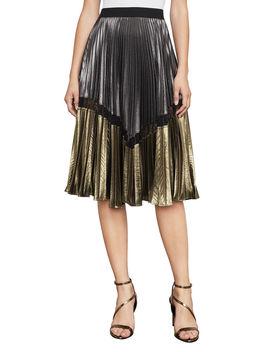 Toni Metallic Midi Skirt by Bcbgmaxazria
