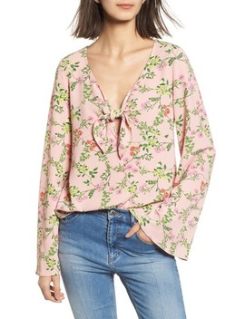Tie Front Bell Sleeve Top by Ten Sixty Sherman