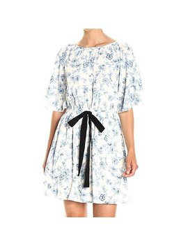 Moon River New Blue Womens Size Small S Floral Print A Line Dress by Moon River
