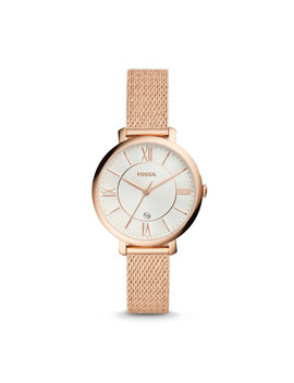 Jacqueline Three Hand Rose Gold Tone Stainless Steel Watch by Fossil