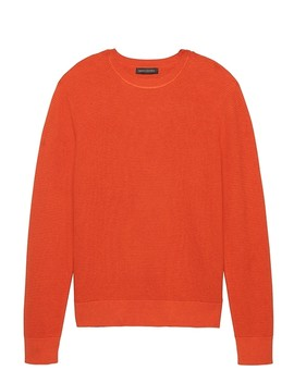 Supima® Cotton Waffle Knit Crew by Banana Repbulic
