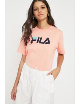 Fila Peach Eagle Logo T Shirt by Urban Outfitters