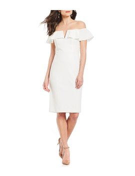 Off The Shoulder Ruffle Dress by Vince Camuto