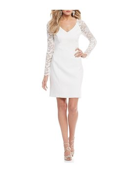Belle Badgley Mischka Lace Sleeve Tori Dress by Belle Badgley Mischka