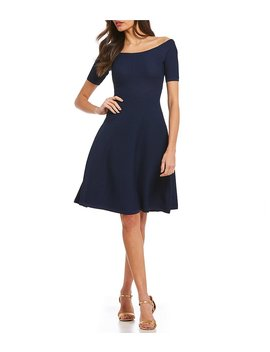 Michael Michael Kors Off The Shoulder Textured Fine Gauge Knit Dress by Michael Michael Kors