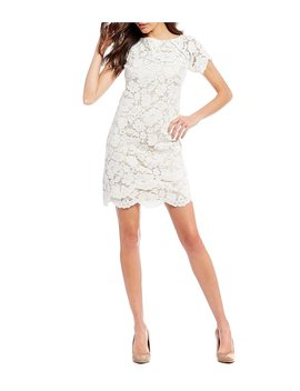 Vince Camuto Lace Shift Dress by Vince Camuto