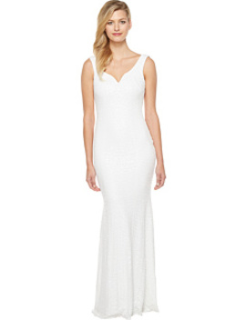 Sequin Gown With Sweetheart Neck And Corset Waist by Badgley Mischka