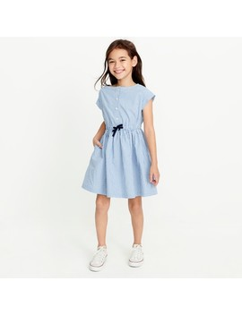 Girls' Short Sleeve Gingham Shirt Dress by J.Crew
