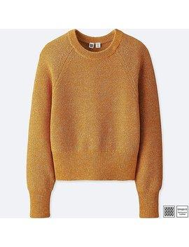 Women Uniqlo U 100 Percents Cotton Crew Neck Cropped Sweater by Uniqlo