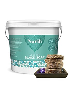 Nurifi African Black Soap   500g   Made From Coconut Oil And Shea Butter by Nurifi