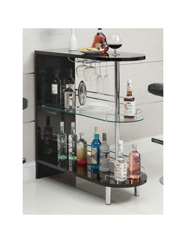 Coaster Company Black Glass/ Metal Bar Table by Coaster