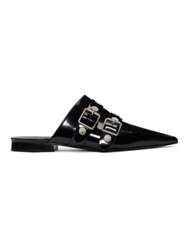 Black Punky Mules by Victoria Beckham