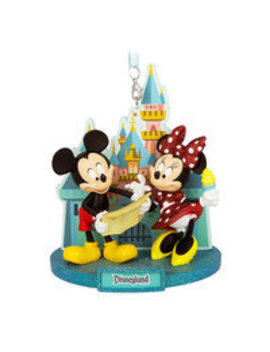 Mickey And Minnie Mouse Disneyland Park Ornament by Disney