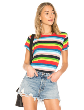 Rainbow Stripe Tee by Pam & Gela