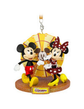 Mickey And Minnie Mouse Disney California Adventure Ornament by Disney