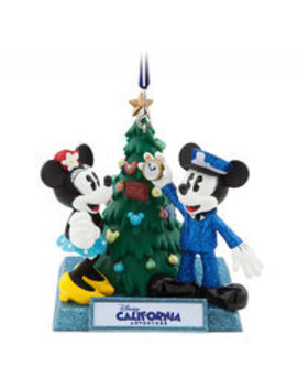 Mickey And Minnie Mouse Holiday Ornament   Disney California Adventure by Disney