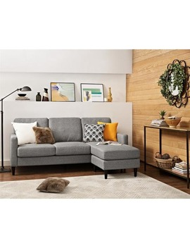 Dorel Living  Kaci Grey Sectional Sofa by Avenue Greene