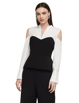 bette-peplum-top by bcbgmaxazria