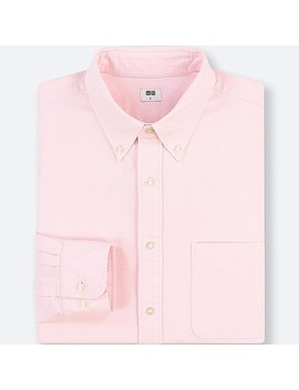 Men Oxford Regular Fit Long Sleeve Shirt (Online Exclusive) by Uniqlo