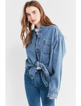 Uo Oversized Button Down Denim Shirt by Urban Outfitters