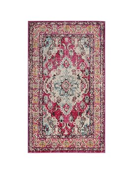 "Safavieh Monaco Collection Mnc243 D Vintage Oriental Bohemian Pink And Multi Distressed Area Rug (2'2"" X 4') by Safavieh"