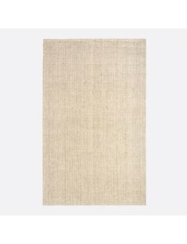 Jute Boucle Rug, 3'x5', Light Flax by West Elm