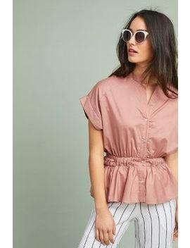 belted-poplin-blouse by eri-+-ali