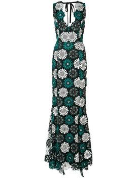 April Floral Crochet Gown by Zac Zac Posen