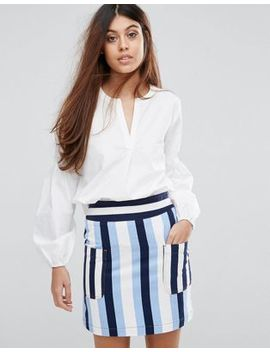 Warehouse Puff Sleeve Blouse by Warehouse