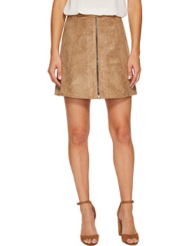 Suede Zip Up A Line Skirt by Bishop + Young