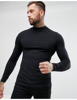 Asos Muscle Long Sleeve T Shirt With Turtle Neck by Asos