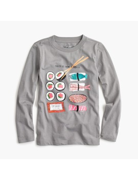 "Girls' Long Sleeve ""This Is How I Roll"" Sushi T Shirt by J.Crew"