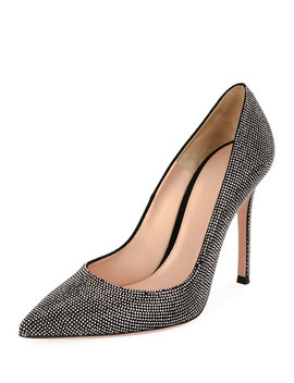 Lennox Studded Suede 105mm Pump by Gianvito Rossi