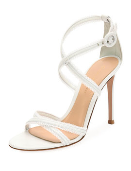 Bra Strap Napa Leather Sandal by Gianvito Rossi
