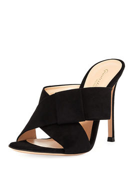 Crisscross Suede 105mm Mule by Gianvito Rossi