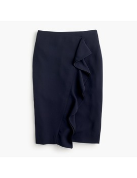 Ruffle Pencil Skirt In 365 Crepe by J.Crew