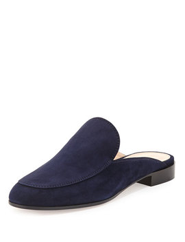 Palau Notched Suede Mule by Neiman Marcus