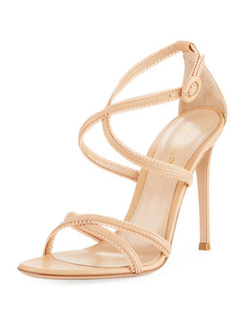 Bra Strap Lamb Leather Sandal by Gianvito Rossi