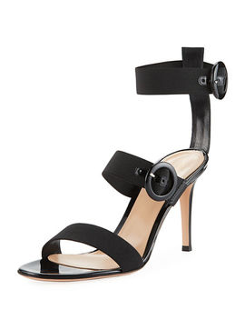 Elastic Multi Strap High Sandal by Gianvito Rossi