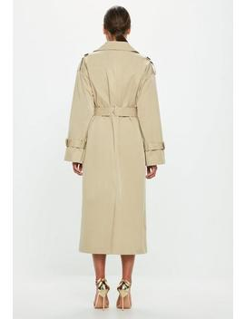 Peace + Love Camel Trench Coat by Missguided