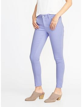 Mid Rise Pop Color Rockstar Ankle Jeans For Women by Old Navy