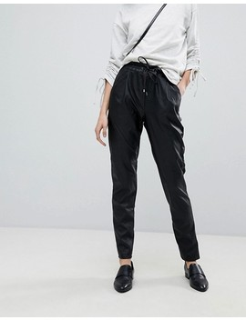 Vero Moda Faux Leather Peg Pants 34 Length by Vero Moda