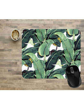 Computer Mouse Pads, Mouse Pads, Floral Mouse Pads, Ready To Ship, Banana Leaf Mouse Pad, Mouse Pad, Rectangle Mouse Pad by Etsy