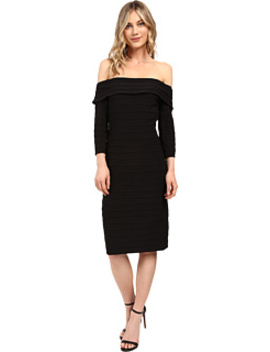 Fold Over Top Banded Sheath Dress by Adrianna Papell
