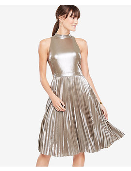 Shimmer Chiffon Pleated Dress by Ann Taylor