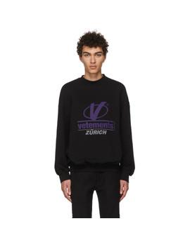 Black 'zürich' Sweatshirt by Vetements